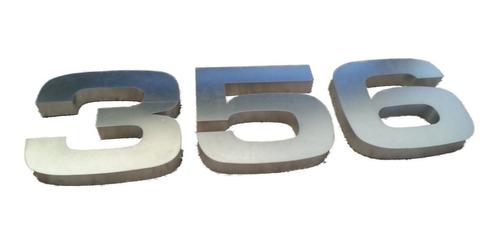 números residenciales 3's pack 3d 30cm con luz led