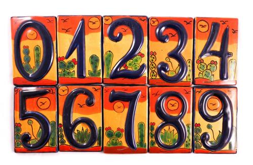 numeros residenciales exteriores talavera, cactus, 2 piezas