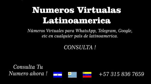 números telefónicos virtuales en toda latinoamerica para wha