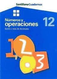 números y operaciones 12: suma y resta de decimales(libro )