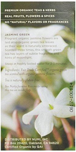 numi organic tea jasmine green, (paquete de 3 cajas) 18