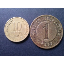 Chile Ficha Salitrera C. I 1 Peso Bronce