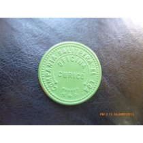 Ficha Salitrera Oficina El Loa - Curico 1 Peso Verde Roja