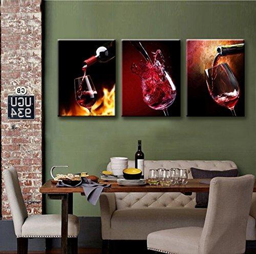 Nuolanart-canvas Wall Art 3 Paneles Enmarcados Impresione ...
