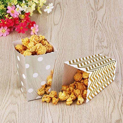 dorado Cart/ón Para fiestas Nuolux color amarillo 50 cajas de palomitas de ma/íz Tres dise/ños
