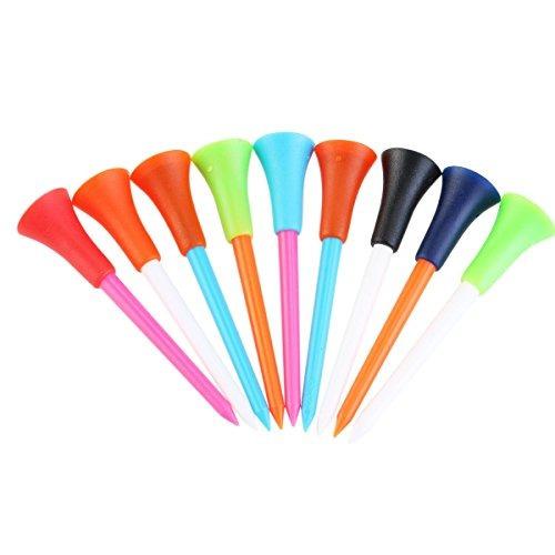 nuolux golf tees 100pcs 85mm plástico amortiguador de gom...