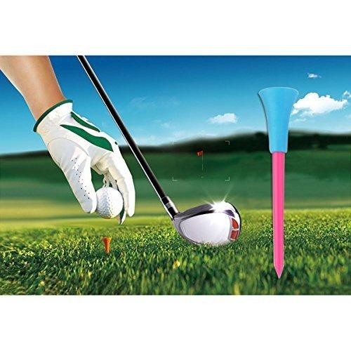 nuolux tee de golf 100pcs 85mm de goma plástico rematan el