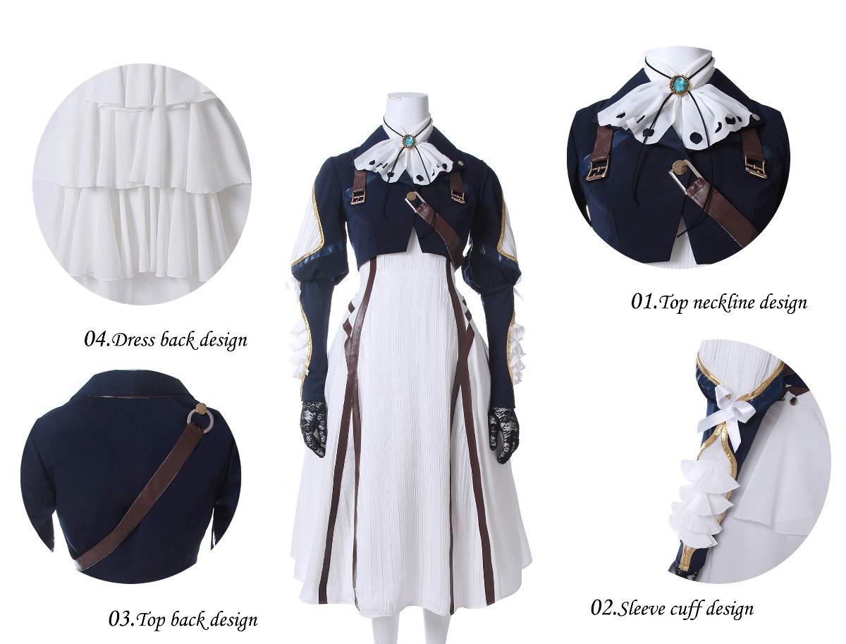 nuoqi violeta evergarden cosplay disfraz anime mujeres un. Cargando zoom. 25d942812344