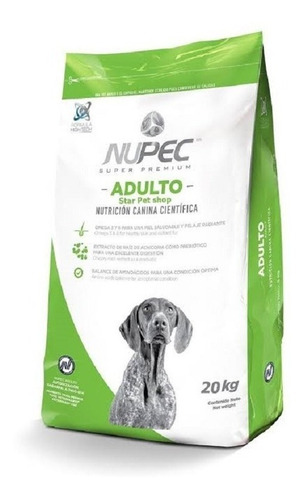 nupec perro adulto 20kg nuevo original