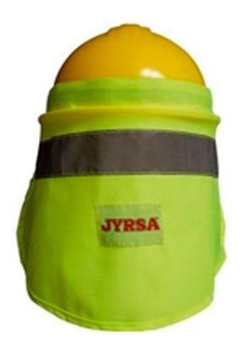 nuquera para casco amarilla con reflejante