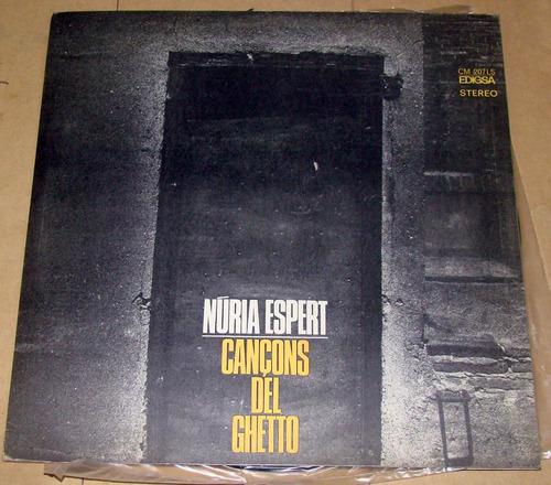 nuria espert cancons del ghetto vinilo lp excelente