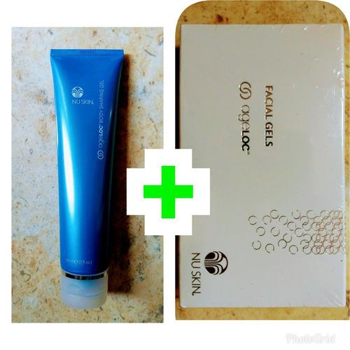 nuskin gel facial + gel corporal  azul + envio incluido