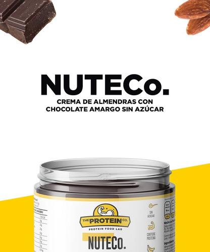 nuteco. | crema de almendras con chocolate amargo sin azúcar