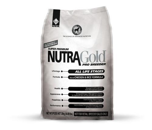 nutra gold pro breeder 20kg - revise envío gratis