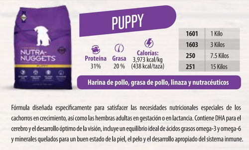 nutra nuggets puppy 3kg - kg a $20475