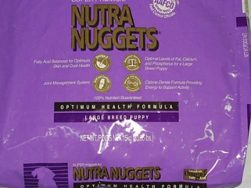 nutra nuggets puppy large breed 15 kg.