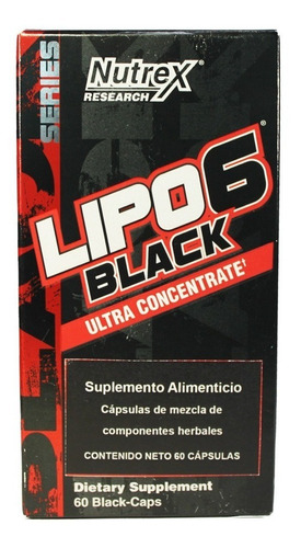 nutrex lipo 6 black uc 60 caps