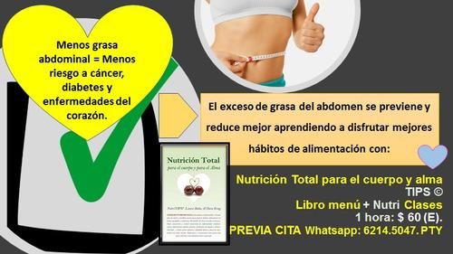 nutri clase y libro menu reductores de grasa del abdomen