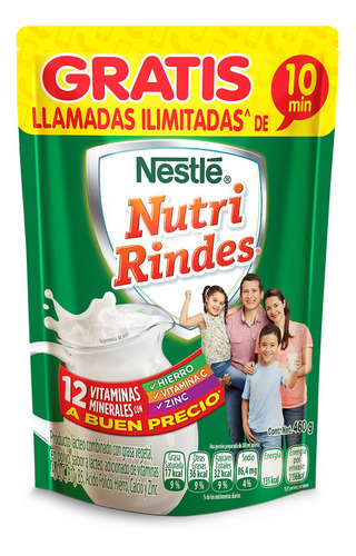 nutri rindes - 460gr bolsa - (1 pieza)
