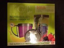 nutribullet set de accesorios aspa, vasos 5 pz 100% original