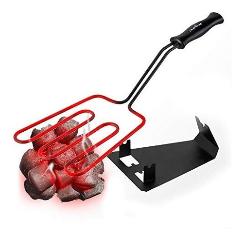 nutrichef arrancador de carbón eléctrico parrilla fogota