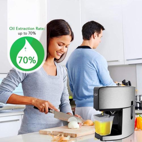 nutrichef extractor automático de aceites lcd digital pkopr1
