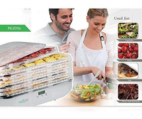 nutrichef pkfd16 deshidratador de alimentos 6 bandejas