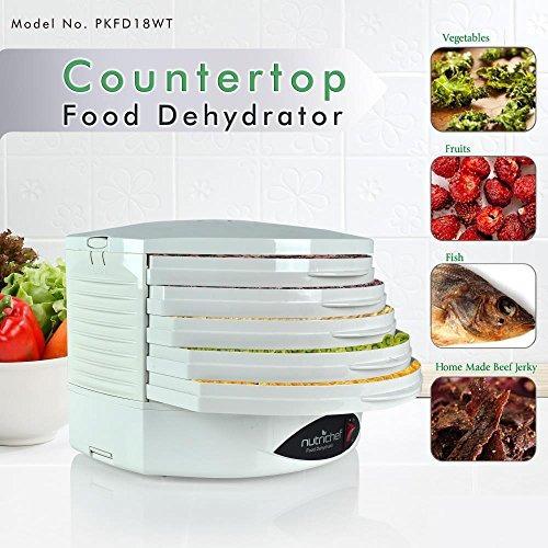nutrichef pkfd18wt deshidratador de cocina eléctrica de la e