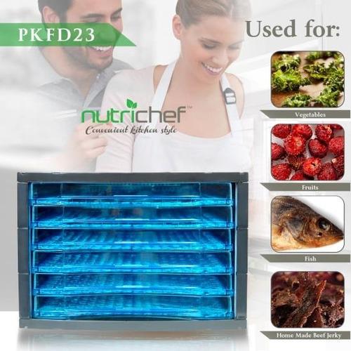 nutrichef pkfd23 deshidratador de alimentos 6 bandejas