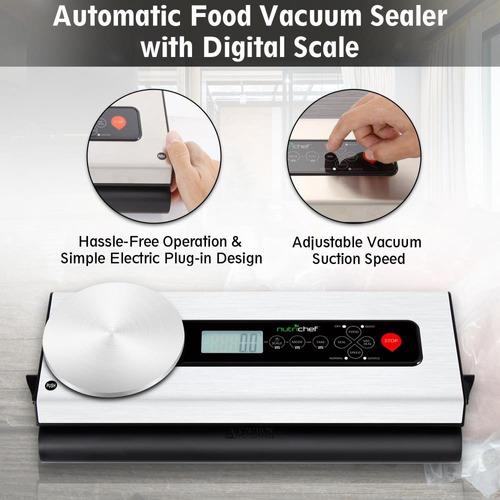 nutrichef sellador automático de vacío para alimentos con