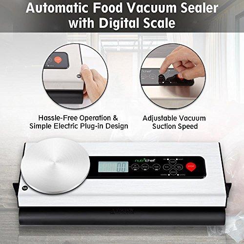 nutrichef sellador de vacío automático para alimentos con bá