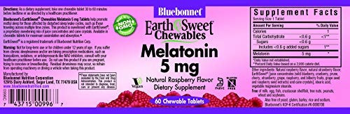 nutrición bluebonnet masticables earthsweet 5 mg melatoni