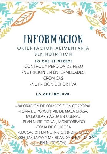 nutrición, orientación alimentaría