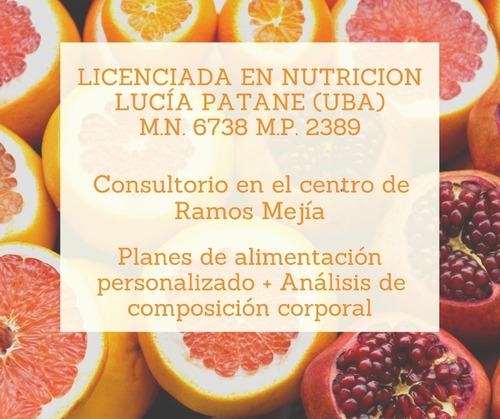 nutricionista. planes alimentarios y composición corporal