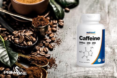 nutricost cafeína pura 200mg 250 capsulas liberación rápida