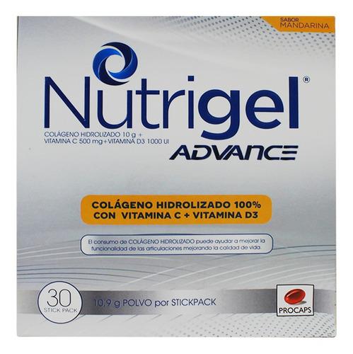 nutrigel advance mandarina polvo x 10,9gr x 30und