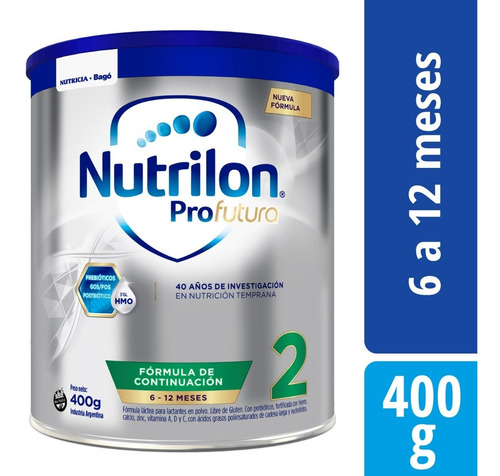nutrilon profutura 2 x 400 grs leche en polvo 6 a 12 meses