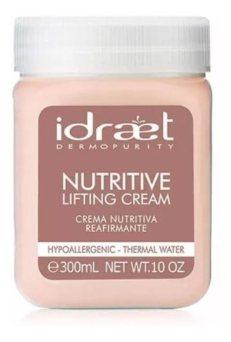 nutritive lifting cream reafirmante 300gr idraet