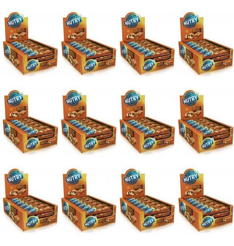 nutry barra de cereal bolo de chocolate c/24 (kit c/12)