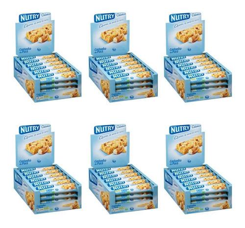nutry barra de cereal castanha do pará c/24 (kit c/06)