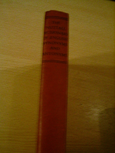 nuttall dictionary of english synonyms antonyms dicionario