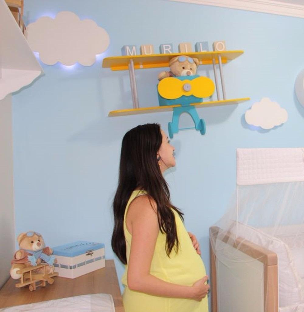 Nuvem Com Luz De Led Luminaria Com Led Quarto De Bebe 2 Pc R  ~ Luminaria A Pilha Para Quarto E Pintura De Quarto De Bebê