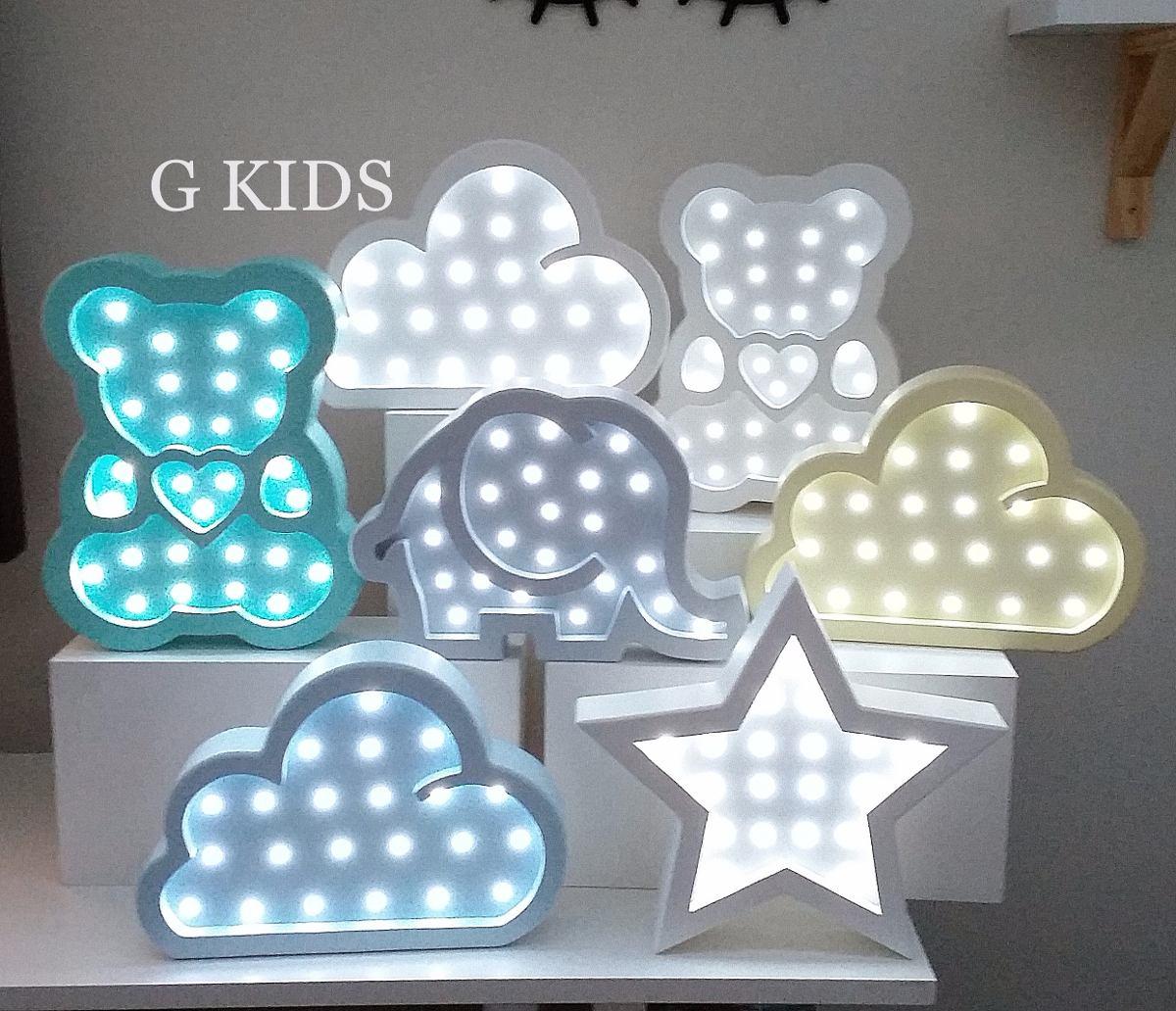 Nuvem Com Luz De Led Luminaria Com Led Quarto De Bebe R 259 00  ~ Luminaria A Pilha Para Quarto E Pintura De Quarto De Bebê