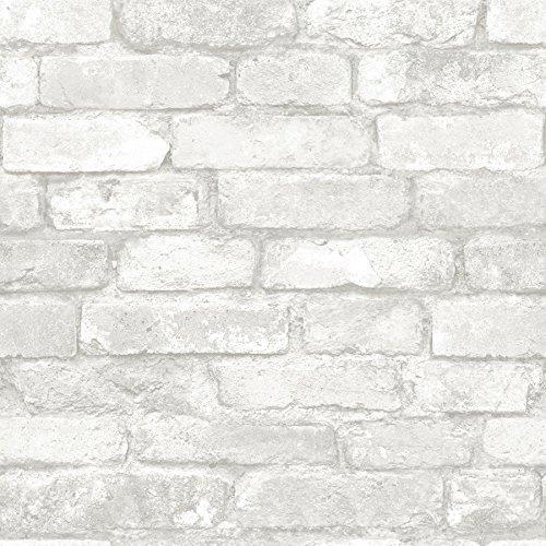 nuwallpaper nu1653 peel and stick wallpaper gris y blanco