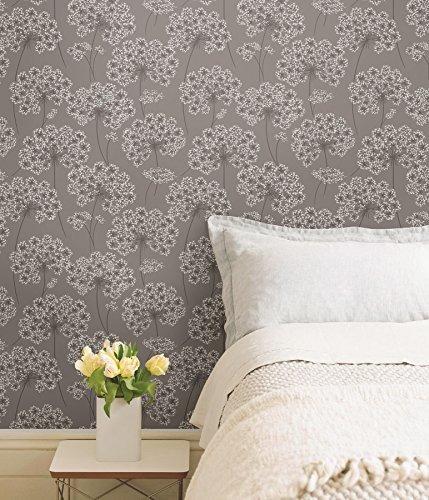 nuwallpaper papel tapiz de angelica cascara y palo gris nu16