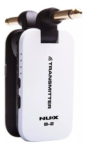 nux b2 micrófono inalambrico guitarra bajo 4 canal  solo nux