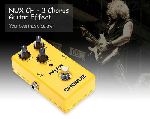 nux ch - 3 coro guitarra efecto pedal true derivación