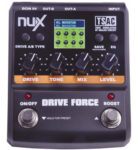 nux drive force - overdrive pedal