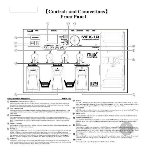 nux mfx-10 multi-effects pedal para guitarra