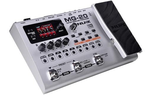 nux mg 20 pedalera multiefecto - usb con pedal de expresion